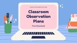 Classroom Observation Tools