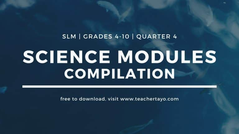 science modules quarter 4