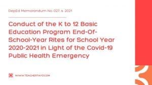 End-Of-School-Year Rites for School Year 2020-2021