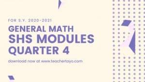 General Math Senior High School Learning Modules