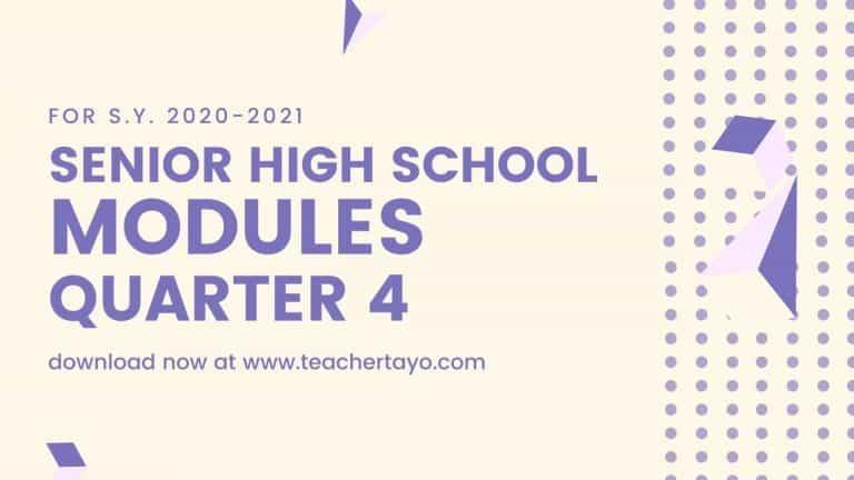 Senior High School Learning Modules