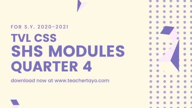 TVL CSS Senior High School Learning Modules