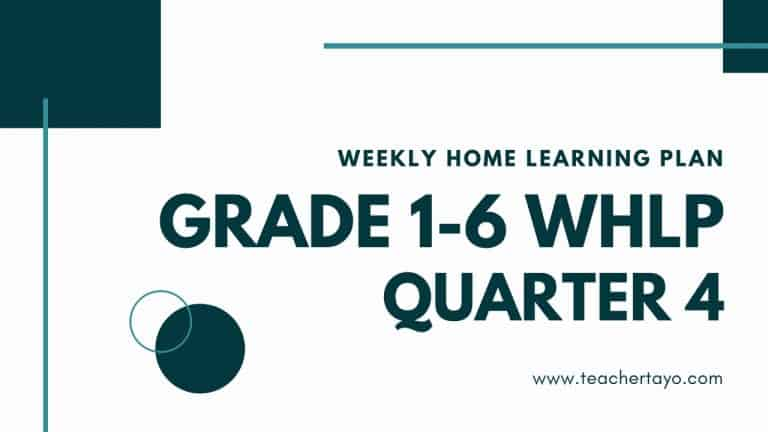 weekly home learning plan for all grades quarter 4