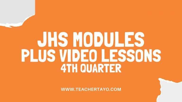 JHS Modules PLUS Video Lessons 4th Quarter